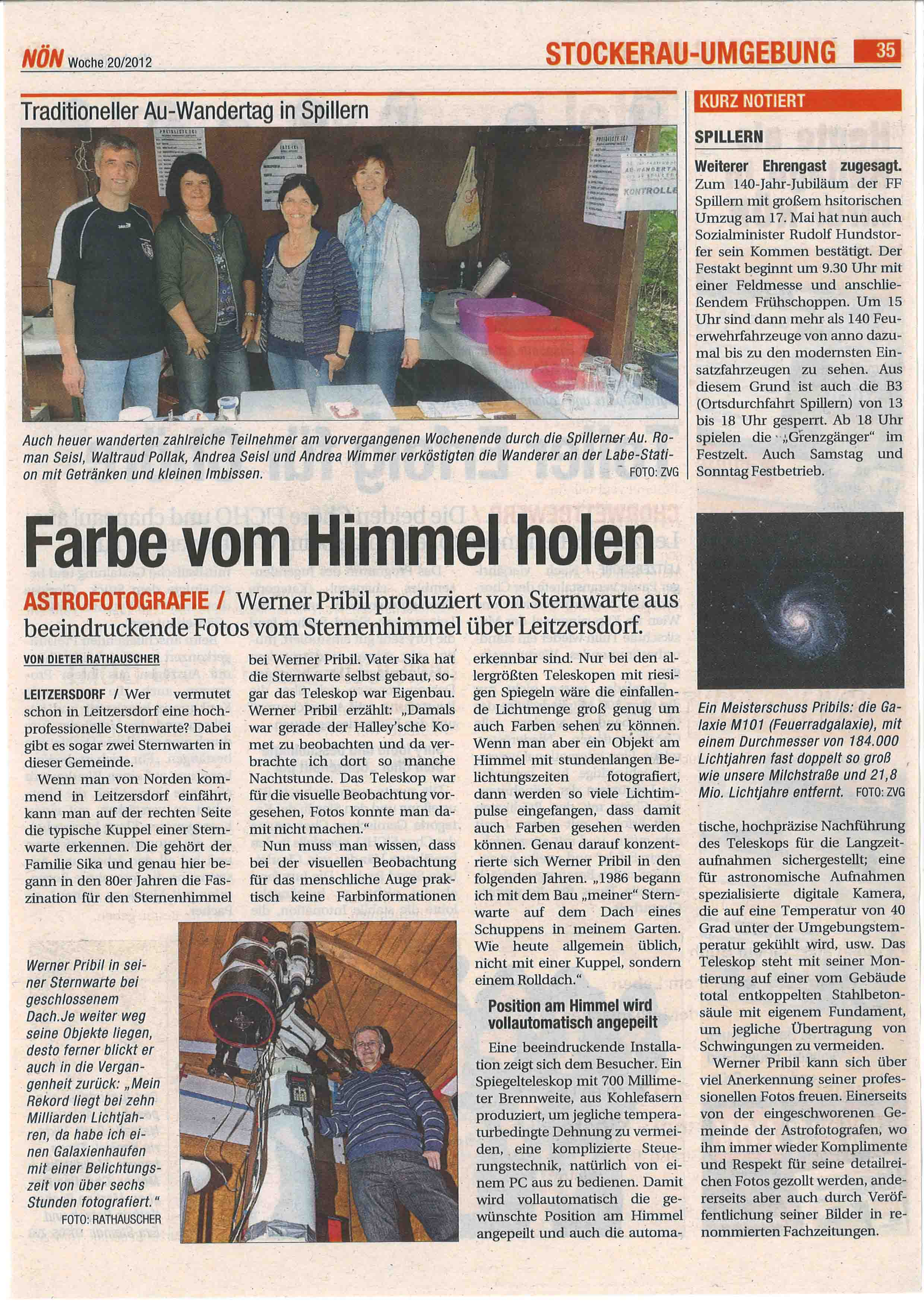 NÖN Artikel Ausgabe 20-2012