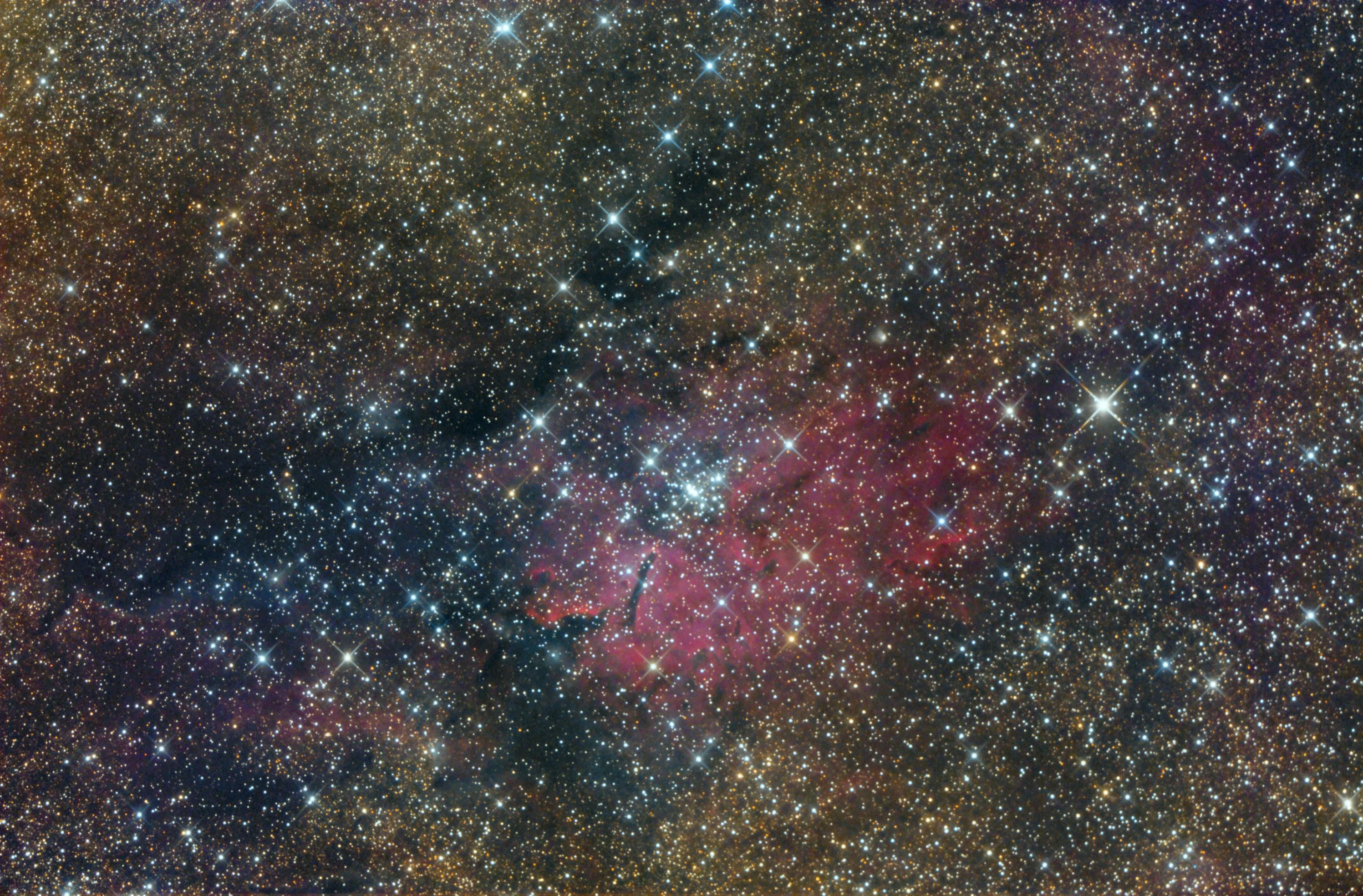 NGC 6820 und NGC 6823 ...